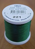 Dark Leaf Silk Appliqu� Thread (#221)