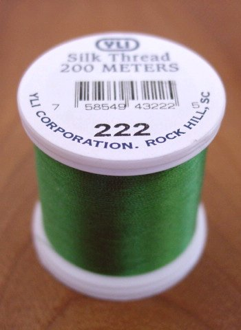 Bright Green Silk Appliqué Thread (#222)