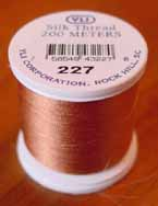 Pale Copper Silk Appliqu� Thread (#227)