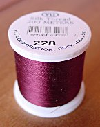 Maroon Silk Appliqu� Thread (#228)