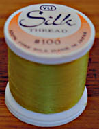 Chartreuse Silk Appliqu� Thread (#236)