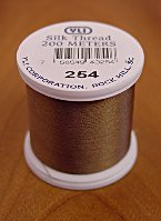 Lt. Taupe Brown Silk Appliqu� Thread (#254)