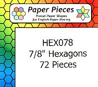 7/8 Inch Hexagon Paper Pieces
