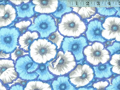Blue Picotte Poppies