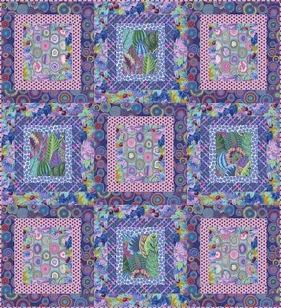 Purple Ripples Quilt Kit