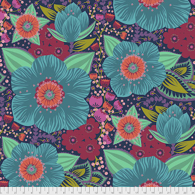 Turquoise Honorable Mention Backing Fabric