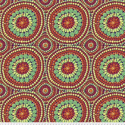 Fruit Mandala Red (2.25 yd)