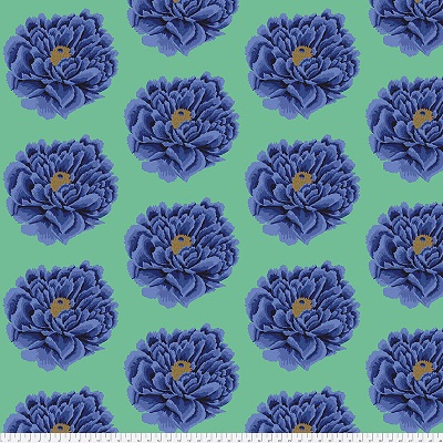 Full Blown (Bloom) Blue (3 yds)