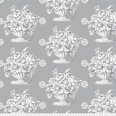 Gray Stone Flower Backing Fabric
