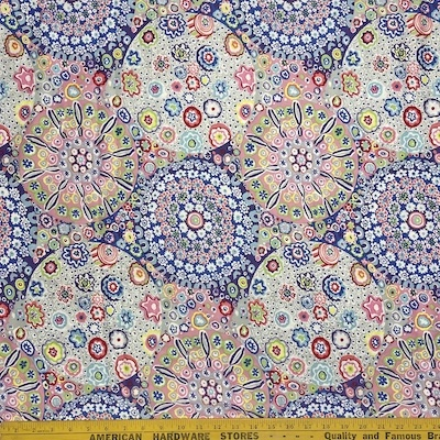 Millefiore Pastel Sateen108 inches wide (3-1/3 yd)