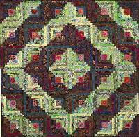 Autumn Log Cabin Quilt Fabric Pack