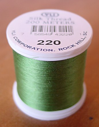 Grass Green Silk Applique Thread (#220)