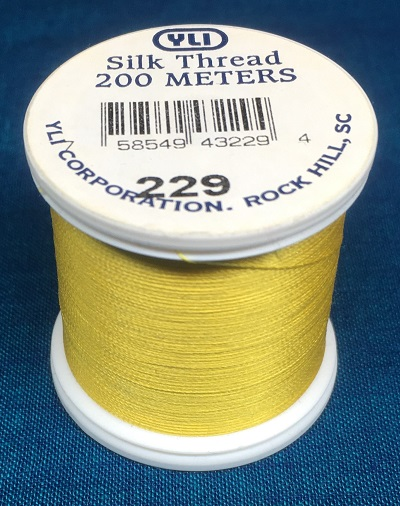 Yellow Silk Applique Thread (#229)