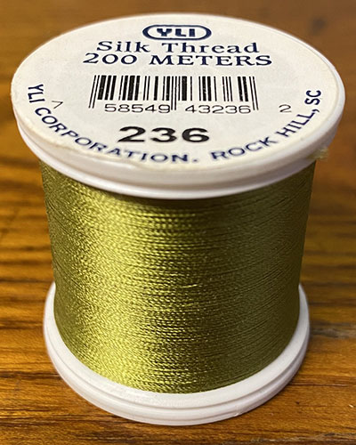 Chartreuse Silk Applique Thread (#236)