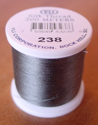 Medium Grey Silk Applique Thread (#238)