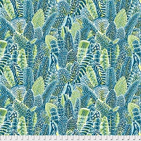 Farmyard Feathers Teal