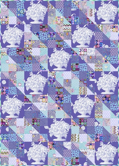 Stone Flower Patches Quilt Kit