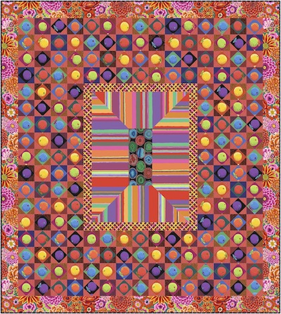 Sunset Boulevard Quilt Kit with Shot Cottons