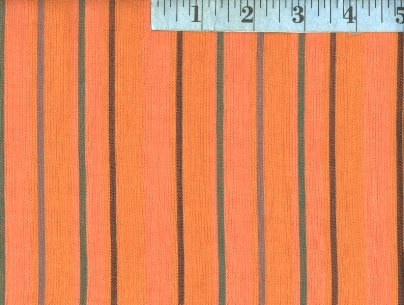 Alternating  Orange Woven Stripes