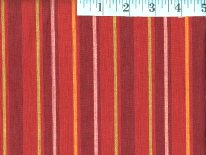 Alternating  Red Woven Stripes