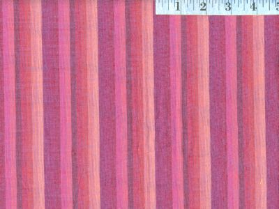 Raspberry Woven Multi-Stripes