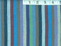 Narrow Blue Woven Stripes