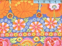 Orange Embroidered Flower Border