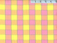 Pink Checkerboard Plaid Ikat