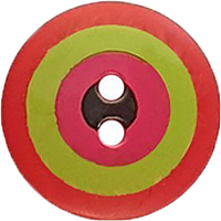 KF Button - Target Red 15mm