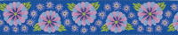 Blue Embroidered Flower Ribbon (2-yard piece)