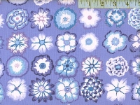 Blue Button Flowers