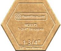 1-3/4 Inch Hexagon Acrylic Template