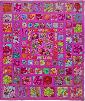 Pink Squares Quilt Fabric Pack