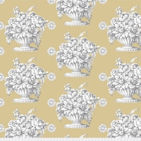 Beige Stone Flower Backing Fabric
