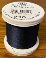 Midnight Blue Silk Applique Thread (#210)