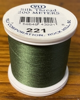 Dark Leaf Silk Applique Thread (#221)