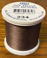 Dark Cocoa Silk Applique Thread (#234)