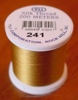 Dull Gold Silk Applique Thread (#241)