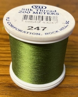 Leaf Green Silk Applique Thread (#247)