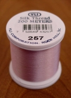 Lt. Dusty Rose Silk Applique Thread (#257)