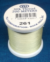 Butter Yellow Silk Applique Thread (#261)