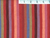 Narrow Red Woven Stripes