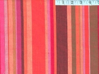 Roman Blood Orange Woven Stripes