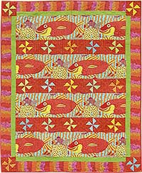 Bright Fish Quilt Fabric Pack