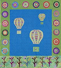 Up Up and Away Fabric Pack plus the book, Stitch It Simple
