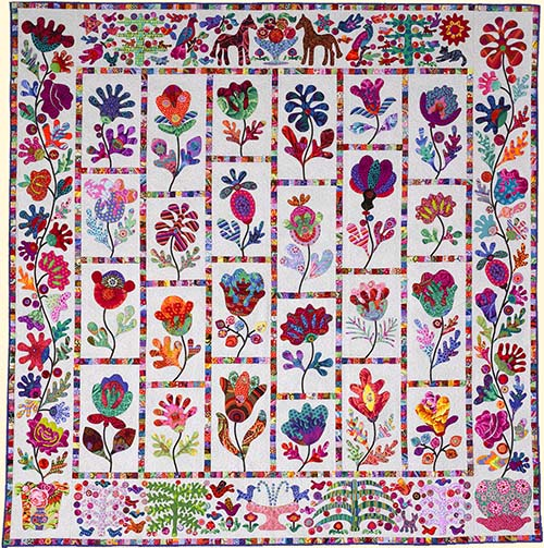 Flower Garden from Glorious Color. Kaffe Fassett Collective ... : quilting flowers - Adamdwight.com