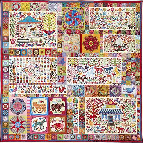 Pandemonium from Glorious Color. Kaffe Fassett Collective fabrics ... : kaffe fassett quilt kit - Adamdwight.com