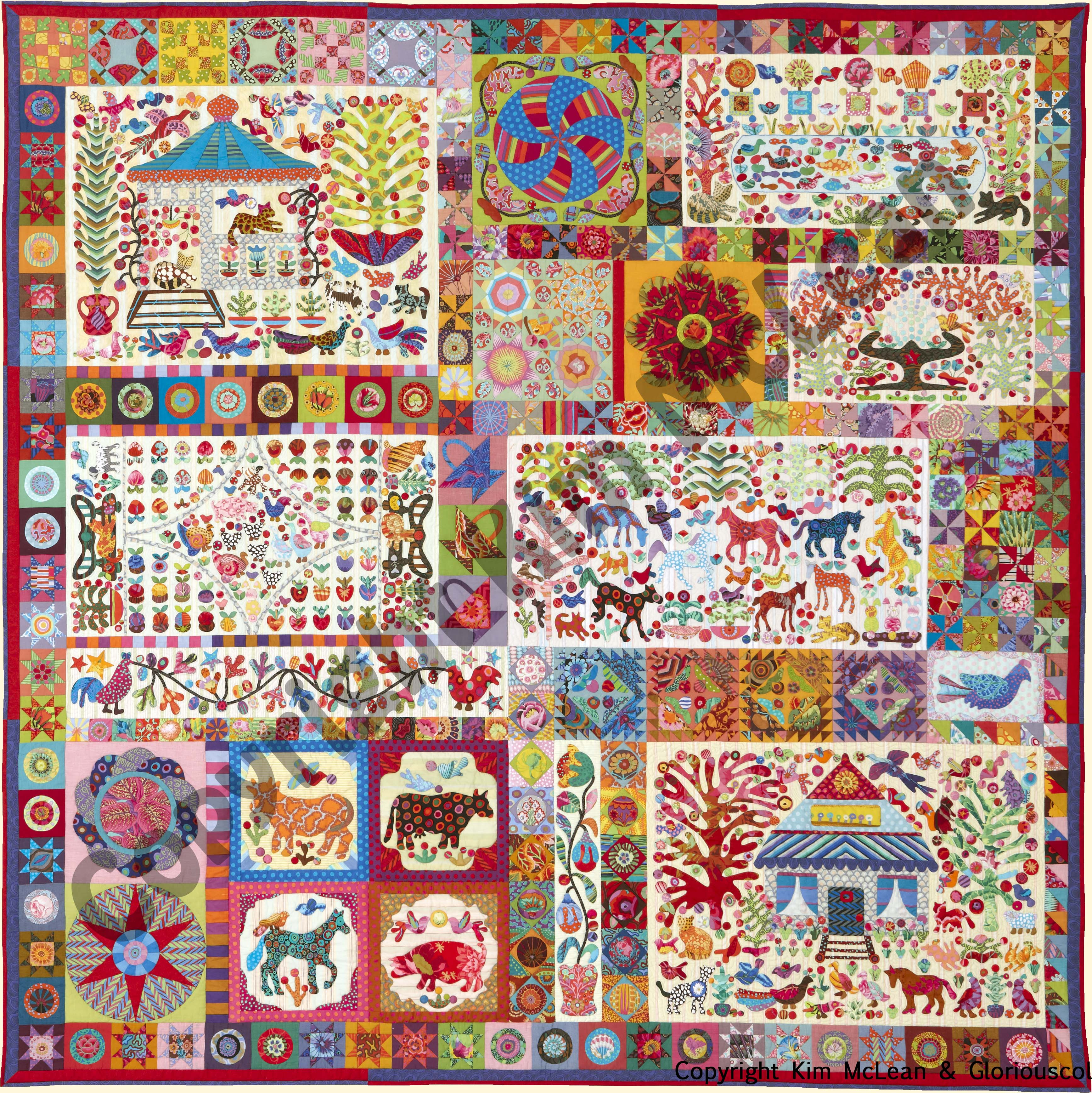 Pandemonium from Glorious Color. Kaffe Fassett Collective fabrics ... : kim mclean quilts - Adamdwight.com