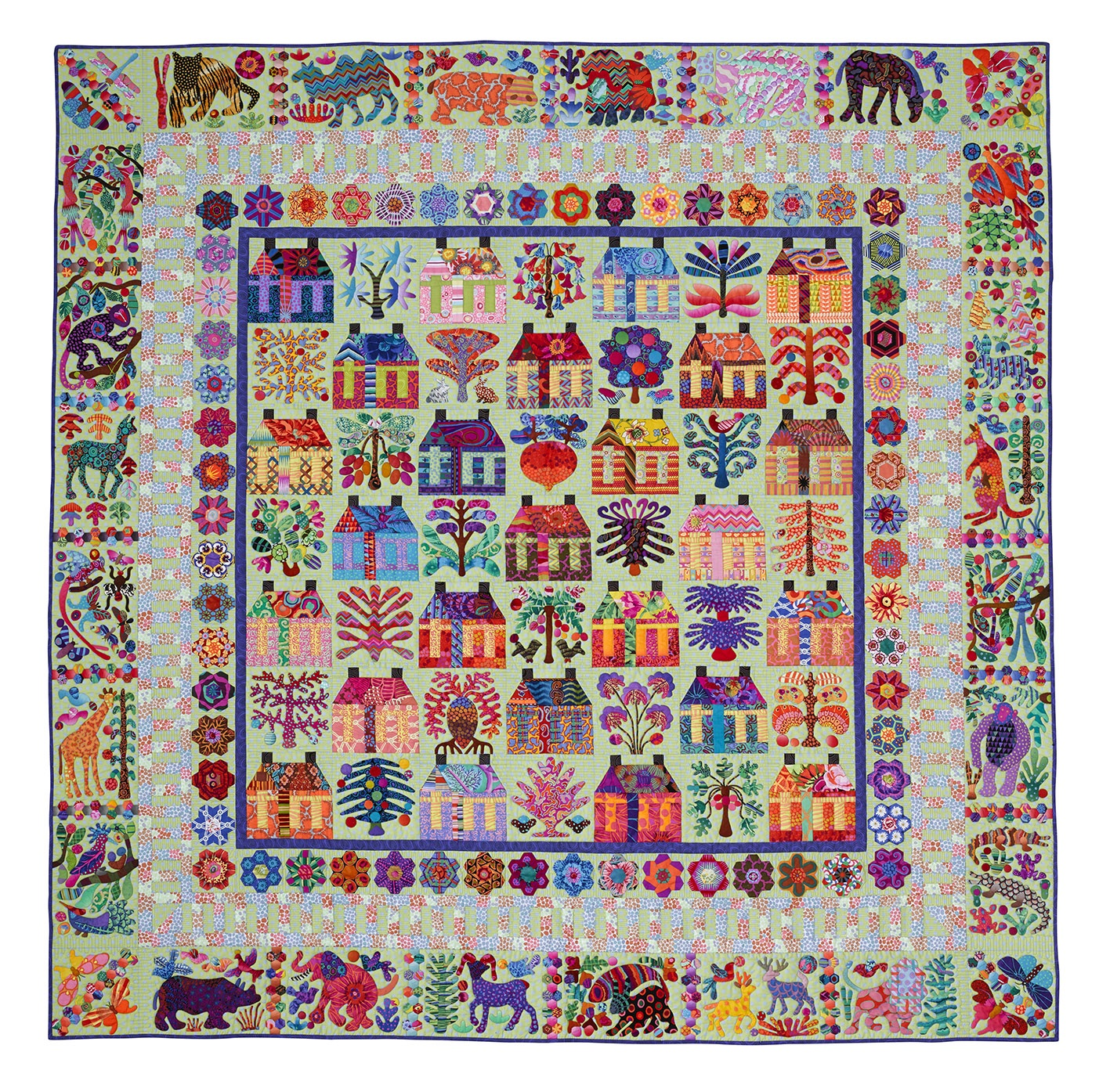 The Village From Glorious Color Kaffe Fassett Collective Fabrics