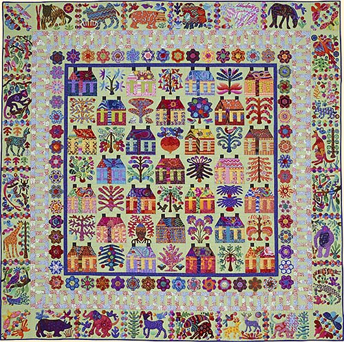 Kim Mclean Quilt Patterns.The Village From Glorious Color